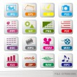 File extensions icon set — Stock Vector #3347844