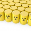 Barrels with radioactive symbol — Stock Photo #14615989