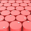 Large group of red barrels — Stock Photo