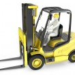 Abstract white min fork lift truck — Stockfoto #14616229