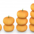 Graph made of orange pumpkins — Stock Photo