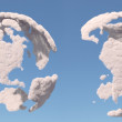 Cloud globe, South and North America — Stock Photo