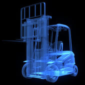 Fork lift truck, front view — Stock Photo