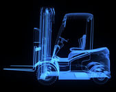 Fork lift truck, side view — Stock Photo
