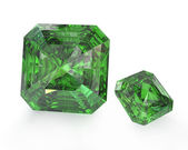 Two green emeralds — Stock Photo