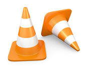 Two traffic cones — Stock Photo