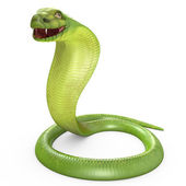 Green cobra bent in ring — 图库照片