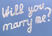 Czy wyjdziesz za mnie — Zdjęcie stockowe
