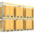 Pallet rack with cargo — Stock Photo #19242005