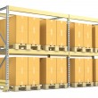 Stock Photo: Pallet rack with cargo
