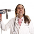 Stock Photo: Drill doctor crazy