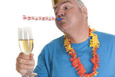 Party blower man — Stock Photo