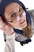 Deafness glasses — Stock Photo
