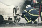 Pessoa de bombeiro — Foto Stock