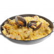 Paella isolated — Stock Photo