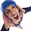 Stock Photo: Headphones hippy fashion