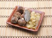 Karbanátky a brambory — Stock fotografie