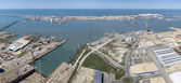 Panoramic Puerto Real shipbuilding — Stock Photo