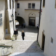 Stock Photo: Old Prague small street-stairs