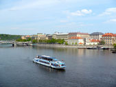 View of Vltava from Charles Bridge — Stock Photo