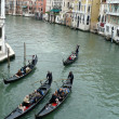 Venetian gondolas on Grand Canal — Stock Photo