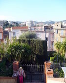 Picturesque roofs of cannes houses — Stock Photo