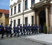Guard of honour of Prague Castle — Stock Photo
