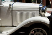 Antique white car — Stock Photo