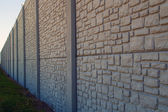 Wall with vanishing point — Stock Photo