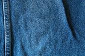 Modrá džínovina pozadí — Stock fotografie