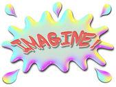Inspirational illustration series imagine with splash — Stock Photo