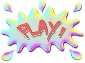 Inspirational illustration series play with splash — Stock Photo