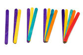 Math with popsicle sticks fanned out — Stock Photo
