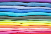 Close up of colorful clothes — Stock Photo