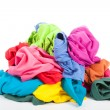 Stock Photo: Pile of colorful clothes