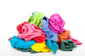 Uma pilha de roupas coloridas — Foto Stock