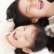 Close up of happy girls face — Stock Photo