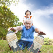 Happy asian Senior couple - Stock Photo