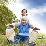 Happy asian Senior couple — Stock Photo #14274165