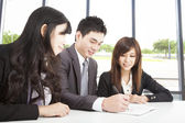 Asian business team working in office — Stock Photo