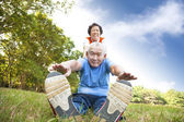 Happy asian Senior couple — Stock Photo