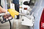 Gasoline pump refilling automobil fuel — Stock Photo