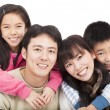 Happy asian family — ストック写真