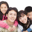 Stock Photo: Happy asian family