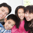Happy asian family — Stock fotografie