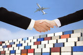 Internationale wirtschaft-handel und transport-concept.business — Stockfoto