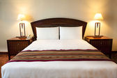 Interior of comfortable hotel room — Stock Photo