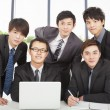 Young business team working in the office — Stock Photo #19564941