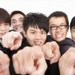 Success business group finger pointing to camera — Stock Photo