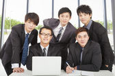 Young business team working in the office — Stock Photo